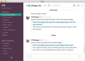 Slack message board window
