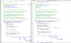 Side by side comparison of php code