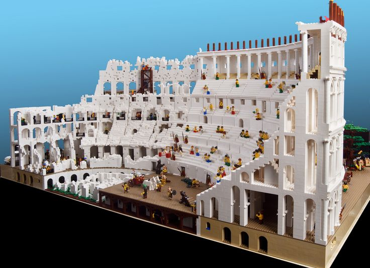 The Roman Colliseum Made out of Legos