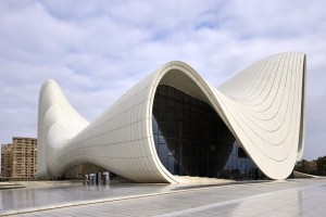 Photograph of the Heydar Aliyev Centre in Baku, Azerbaijan