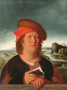 Portrait of Paracelsus by Quentin Matsys courtesy of Wikimedia Commons